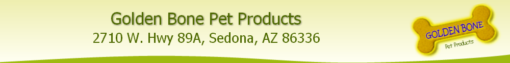 Golden Bone Pet Products and Supply Store in Sedona, Arizona